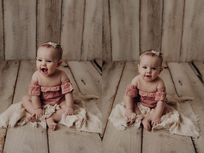 6 month old in studio for photos