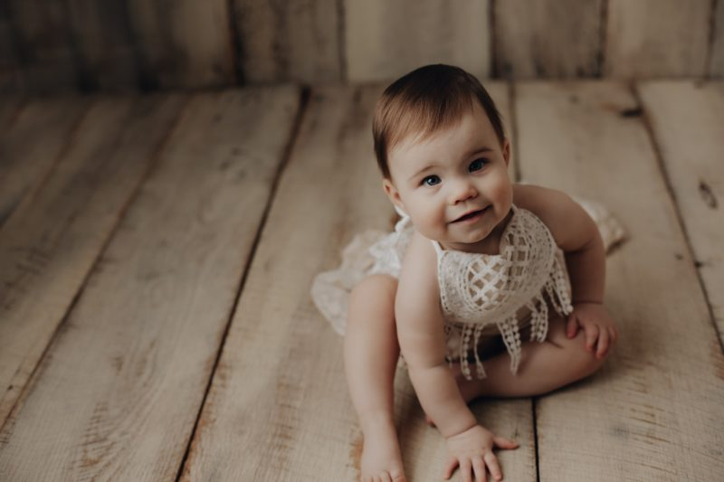 cute one year old session
